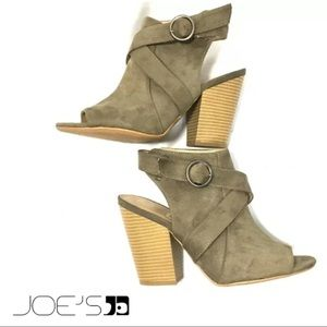 JOE'S KITTY  Cut-Out  Suede Ankle Booties SZ 9